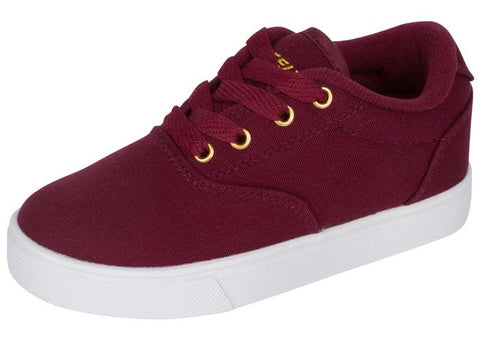 Heelys Kids Launch Burgundy Gold Angle 1