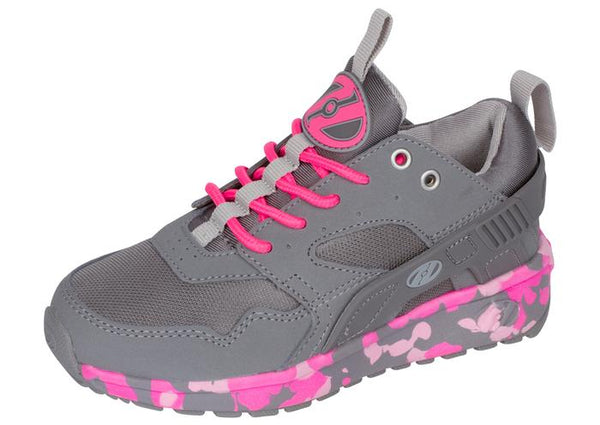Heelys Kids Force Grey Pink Angle 1