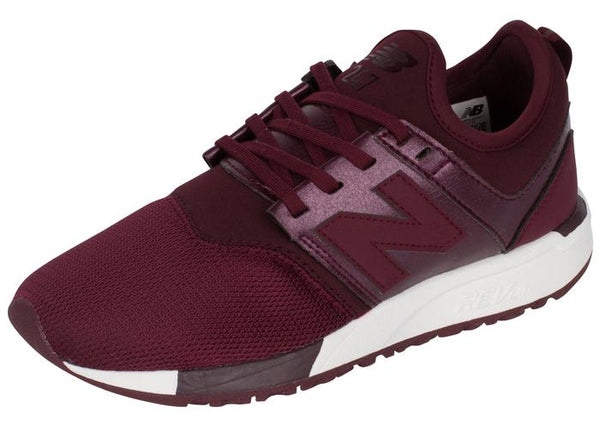 New Balance Womens 247 Classic Gem Chocolate Cherry White Angle 1