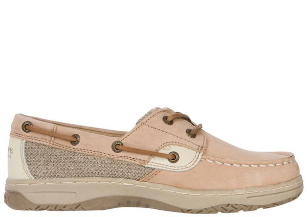 Sperry Kids Bluefish Linen Oat Angle 3