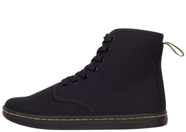 Dr Martens Shoreditch 7 Eye Canvas Black Angle 2