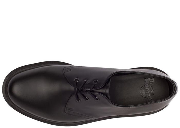 Dr Martens 1461 Mono 3 Eye Smooth Black Angle 3
