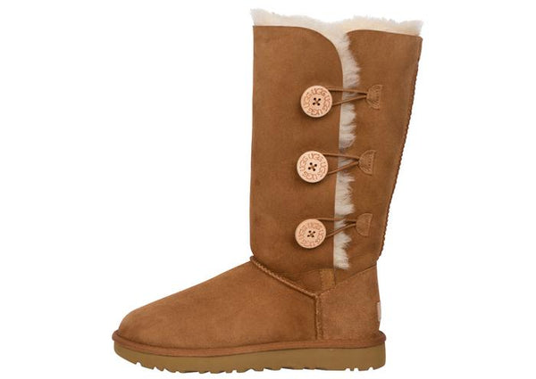 UGG Womens Bailey Button Triplet II Chestnut Angle 2