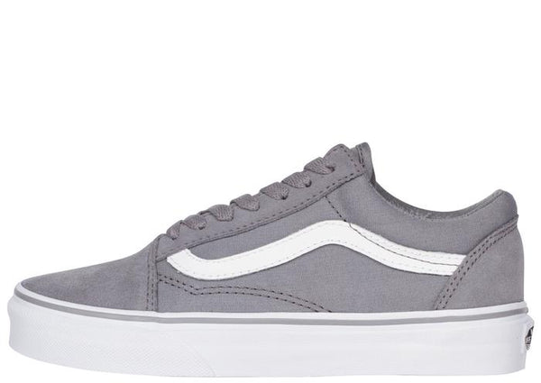 Vans Old Skool Suede Canvas Frost Grey True White Angle 2