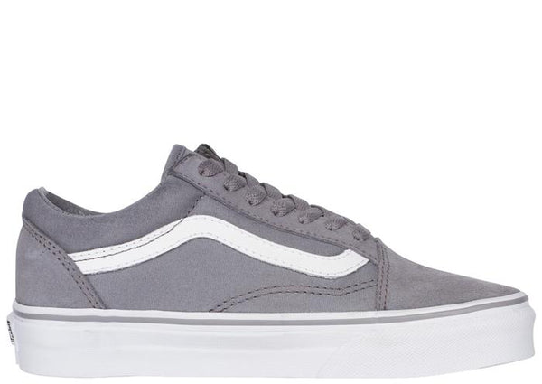 Vans Old Skool Suede Canvas Frost Grey True White Angle 4