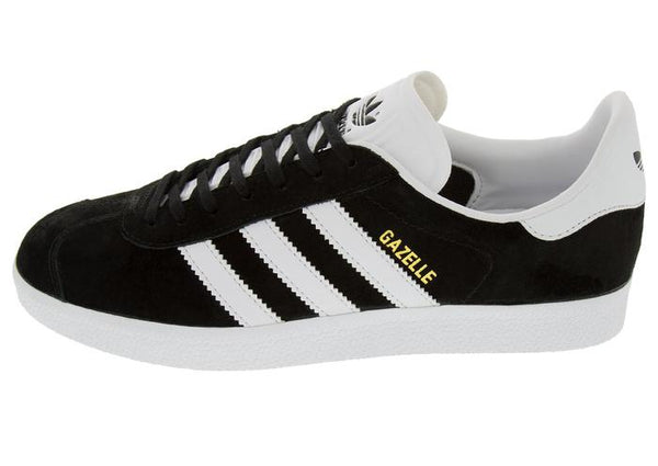 adidas Gazelle Black White Gold Angle 3