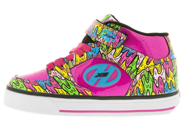Heelys Kids Cruz X2 Hot Pink Multi Melt Angle 2