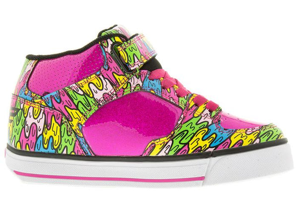 Heelys Kids Cruz X2 Hot Pink Multi Melt Angle 4