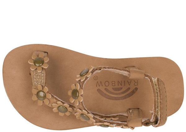 Rainbow Sandals Childrens Delilah Sierra Brown Angle 4