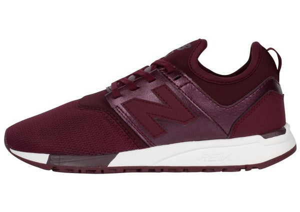 New Balance Womens 247 Classic Gem Chocolate Cherry White Angle 4