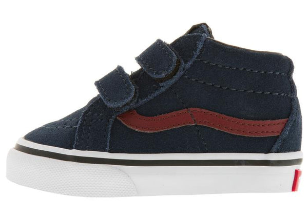 Vans Infants SK8 Mid Reissue Dress Blue Madder Brown Angle 2