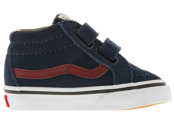 Vans Infants SK8 Mid Reissue Dress Blue Madder Brown Angle 4