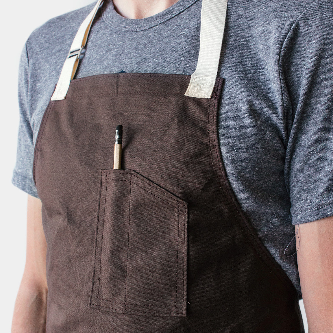 Winter Session Canvas Shop Apron - Cocoa