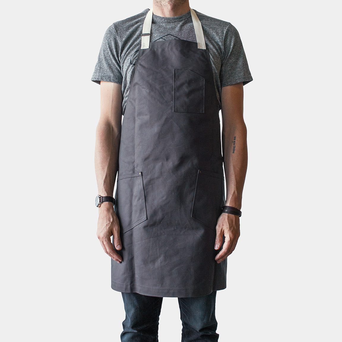 Winter Session Canvas Shop Apron - Grey