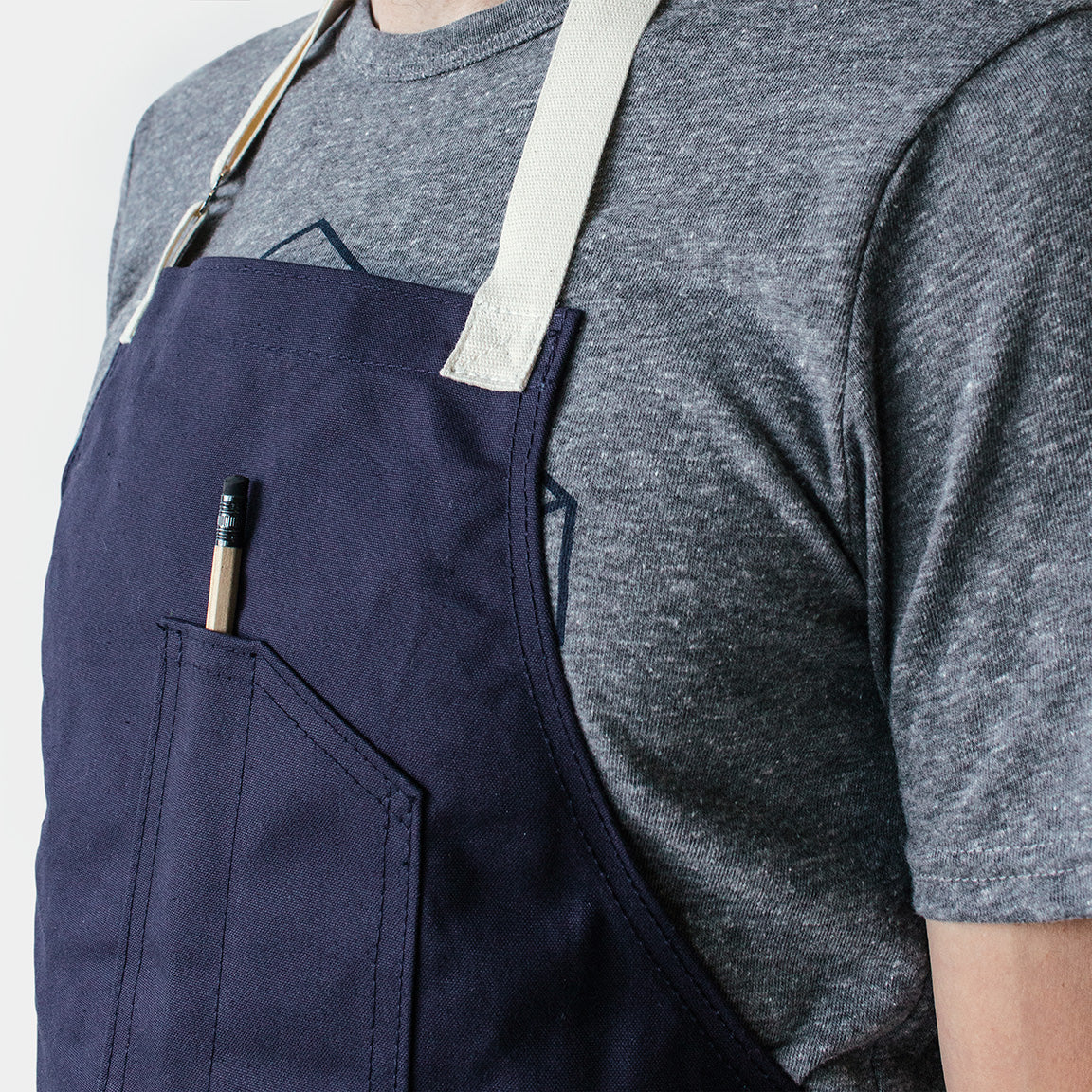 Winter Session Canvas Shop Apron - Navy