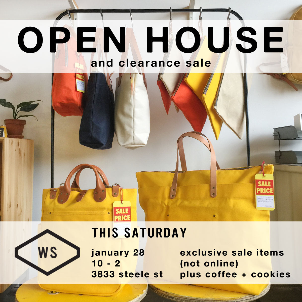 Winter Session Open House and Clearance Sale