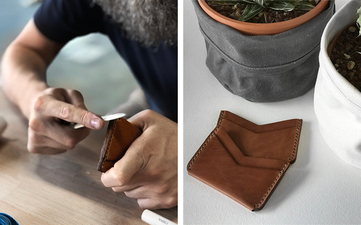Winter Session Leather Slim Wallet