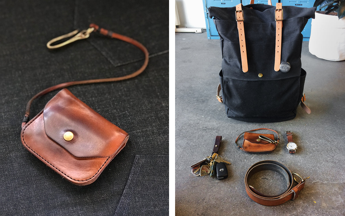 Winter Session Team Bio Waxed Canvas and Leather Bags
