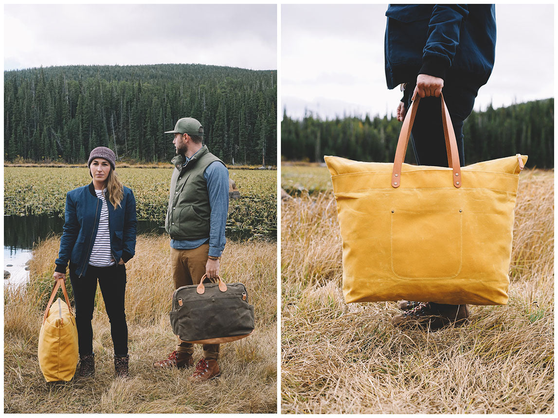 Winter Session Fall Lookbook Waxed Canvas Weekender