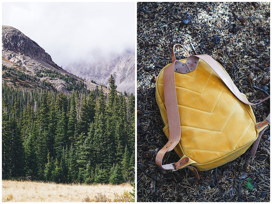 Winter Session x Armitage & McMillan Fall Lookbook Waxed Canvas Backpack