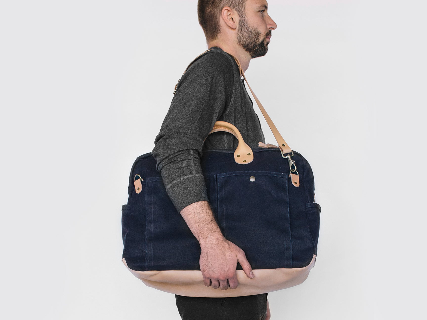 Winter Session Waxed Canvas Weekender Bag