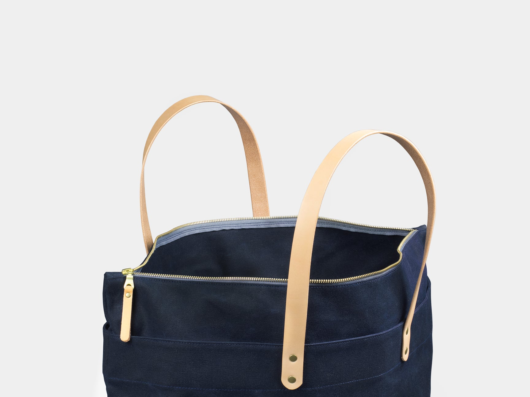 Winter Session Waxed Canvas Zip-Top Tote