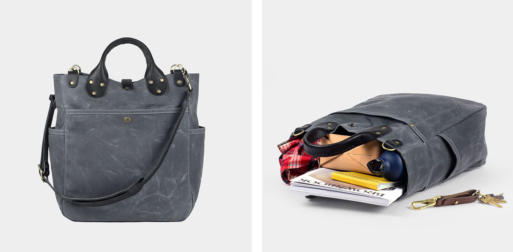 Waxed Canvas Garrison Bag | made in Denver by Winter Session