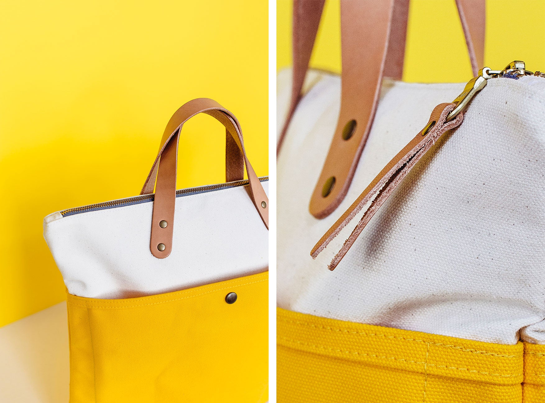 Winter Session Yellow Canvas Leather Collection