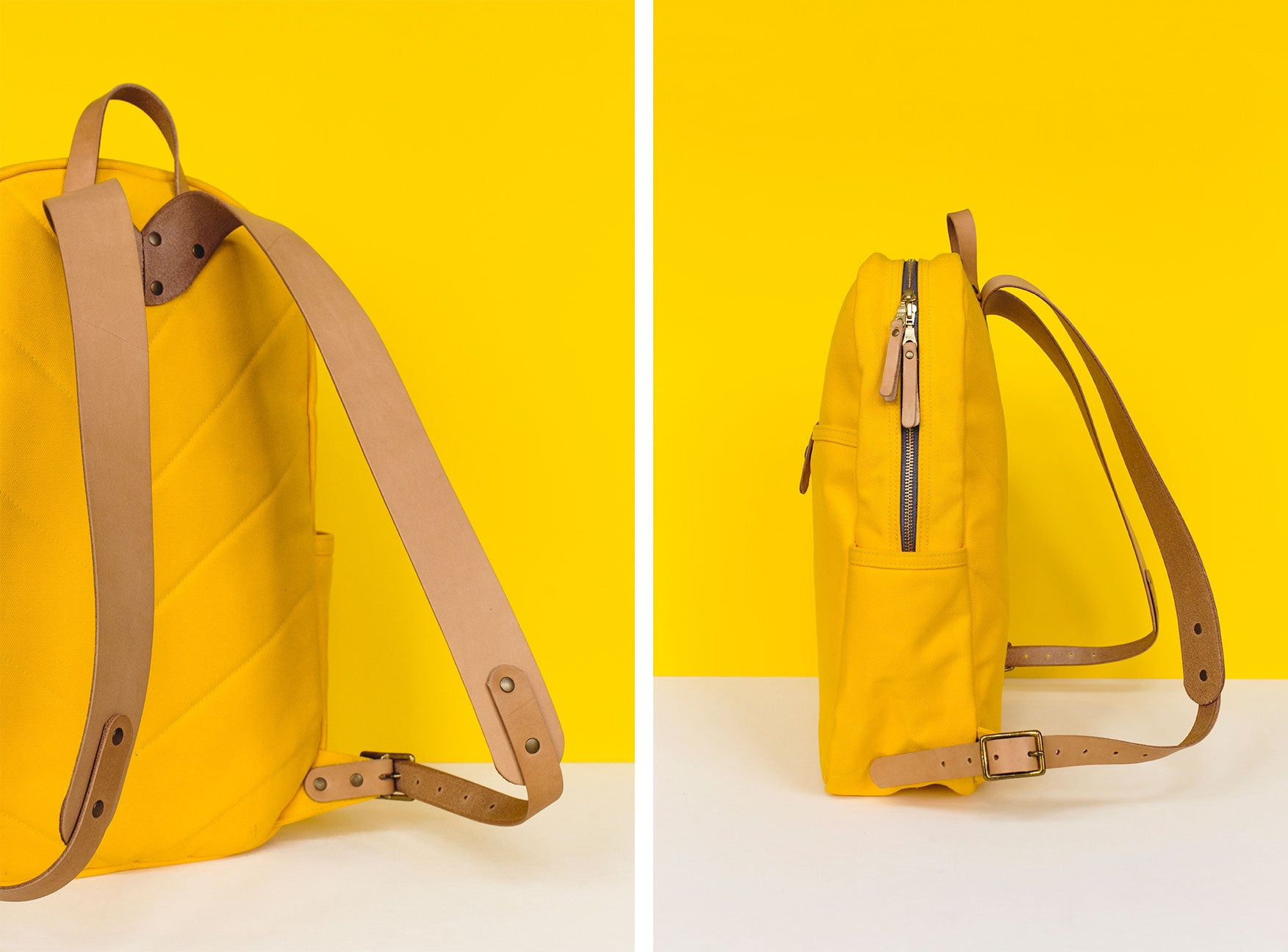 Winter Session Lookbook Yellow Canvas Leather Collection