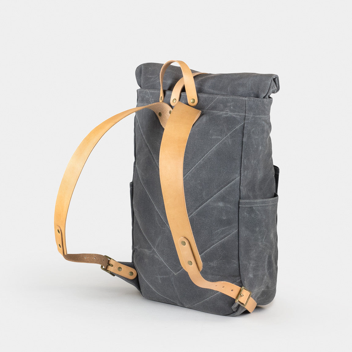 Waxed Canvas Roll Top Backpack Winter Session