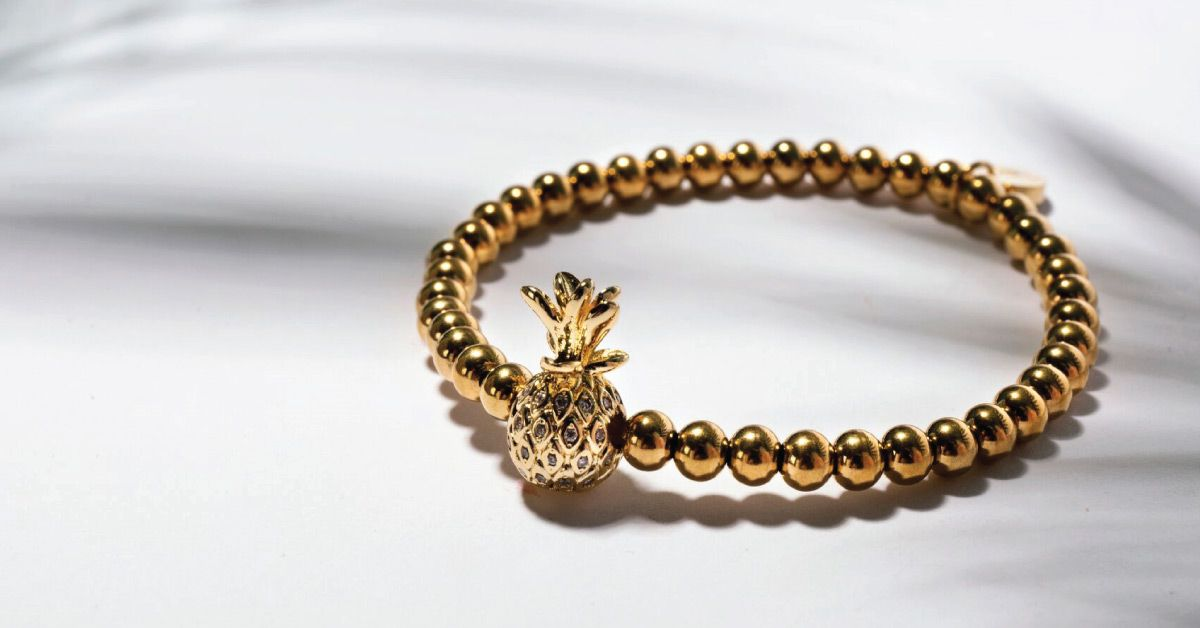 Crystal Pineapple NOGU Bracelet Gold Jewelry