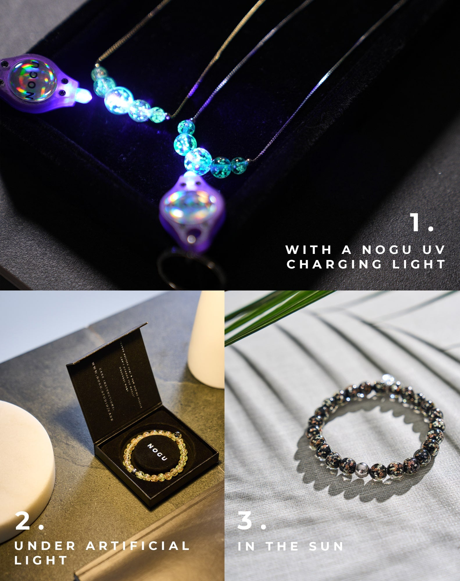 How to Charge Your Handmade Firefly Glass Bracelets, Necklaces, and Earrings (Glow in the Dark)
