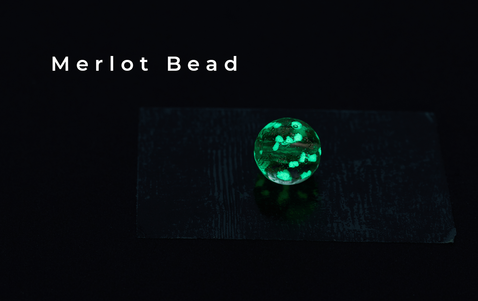Merlot Glass Bead Firefly Handcrafted Collection (Glow in the Dark)