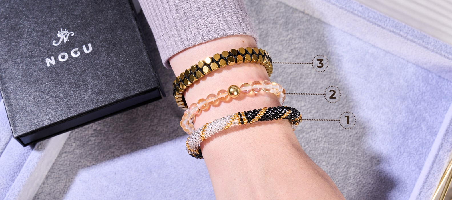 NOGU How to Style and How to Stack your NOGU Handcrafted Bracelet Collection