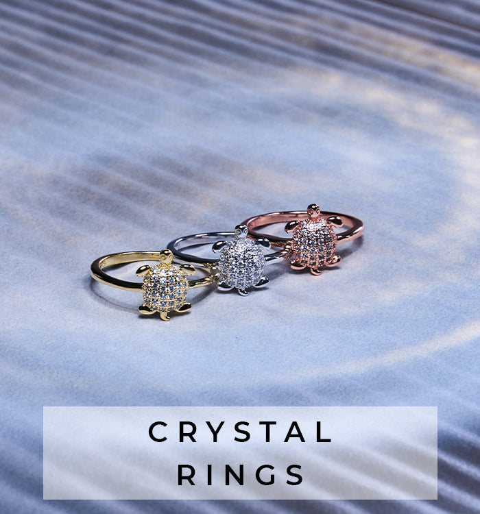 NOGU Dainty Unique Crystal Rings (Rose Gold, Silver, Gold Jewelry)