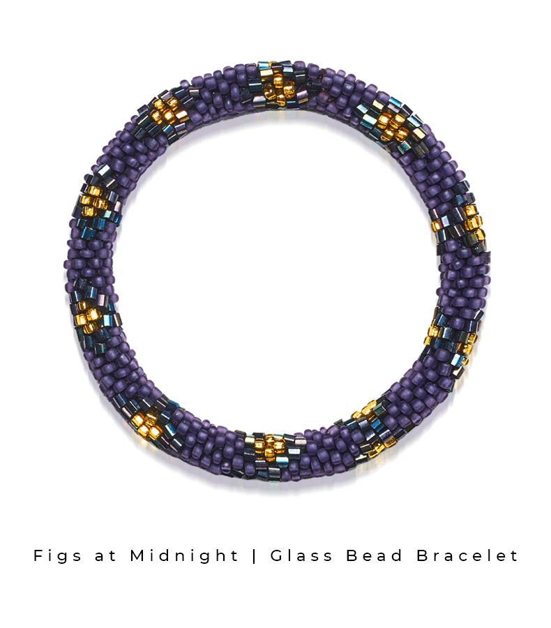 Figs at Midnight Himalaya Collection Traditional Glass Bead Bracelet