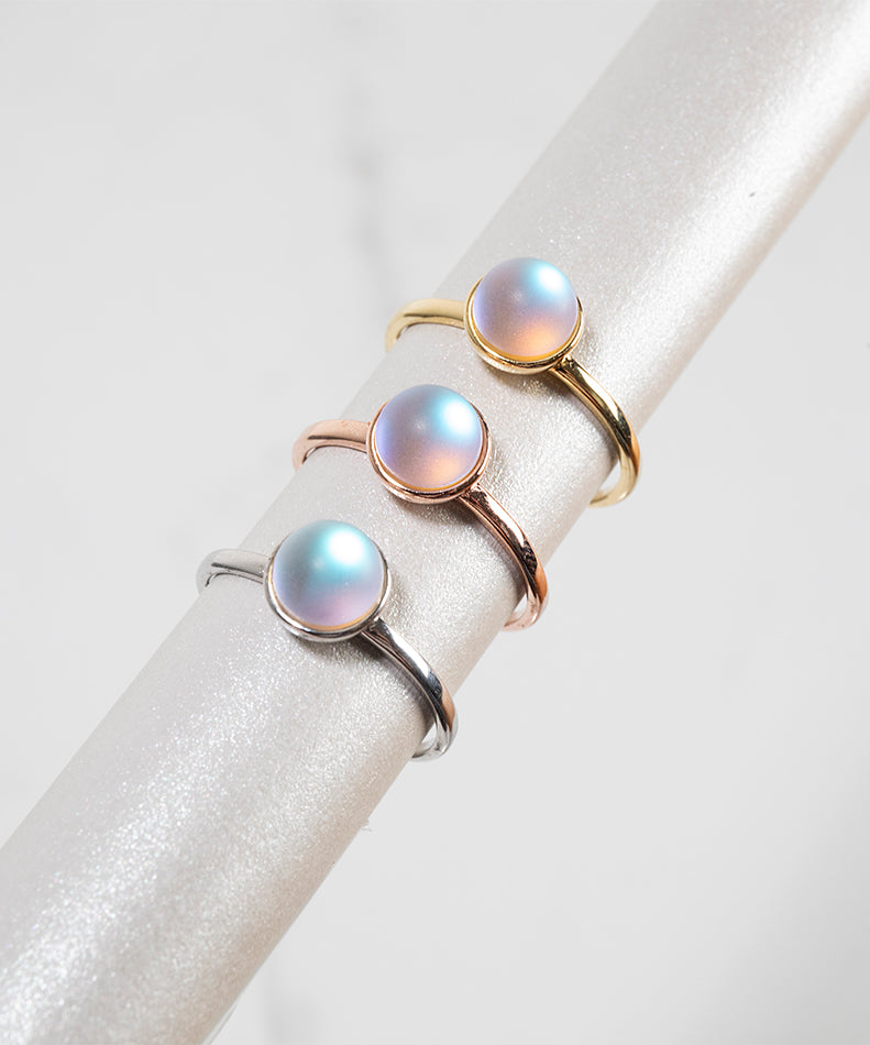 NOGU How to Clean and Care for Mermaid Glass Sterling Silver Rings with 8k Gold Rose Gold Vermeil
