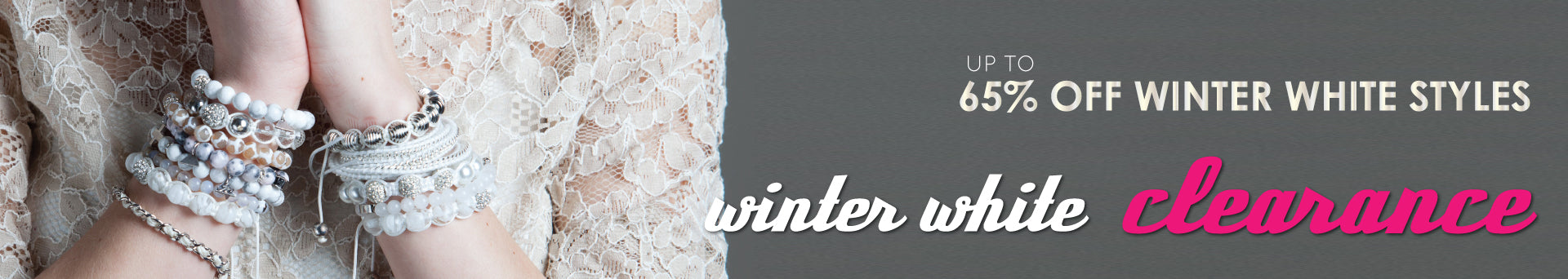 Winter White Clearance Bracelet Sale
