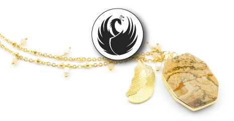 PHOENIX FEATHER NECKLACES