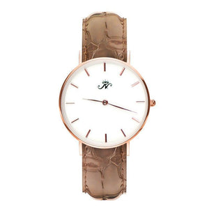 Bathurst - Rose Gold Timepiece with Brown Leather