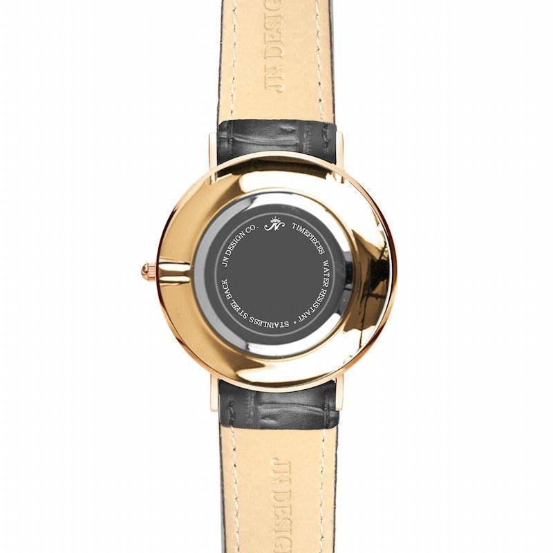 High Park - Gold Timepiece with Black Leather