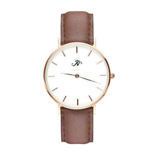 Islington - Gold Timepiece with Brown Leather