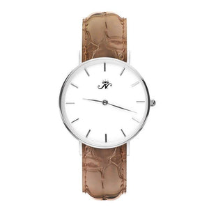 Victoria Park - Silver Timepiece with Brown Leather