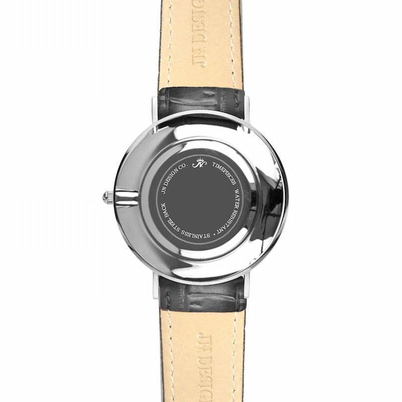 Broadview - Silver Timepiece with Black Leather