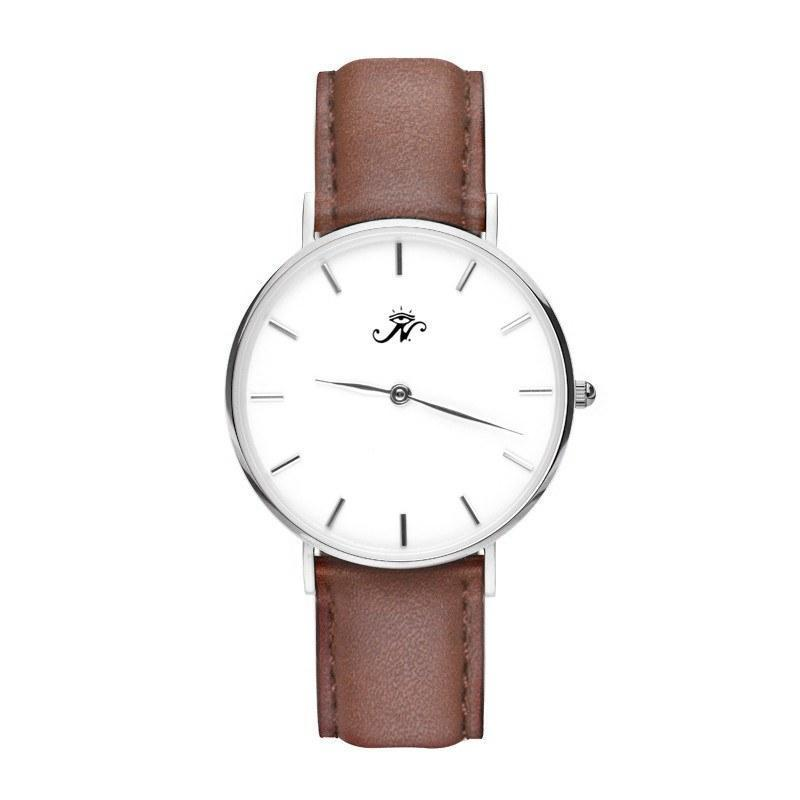 Eglinton - Silver Timepiece with Brown Leather