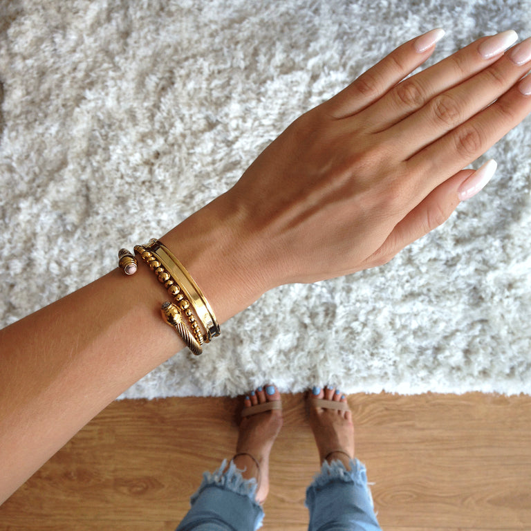 18k Gold | Hair Elastic Bangle