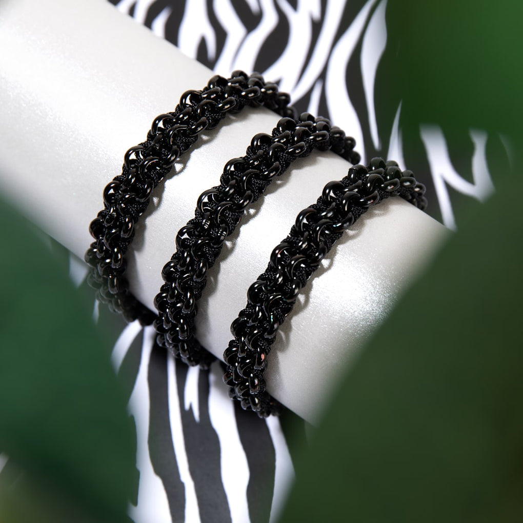 Mountain Gorilla Links | Black Kismet Bracelet
