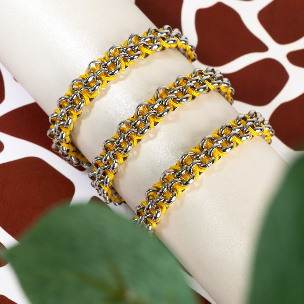 Kangaroo Links | Mini Kismet Bracelet | Yellow x Silver