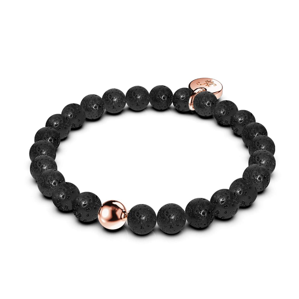 Pompeii | Lava Rock | 18k Rose Gold | Expression Bracelet