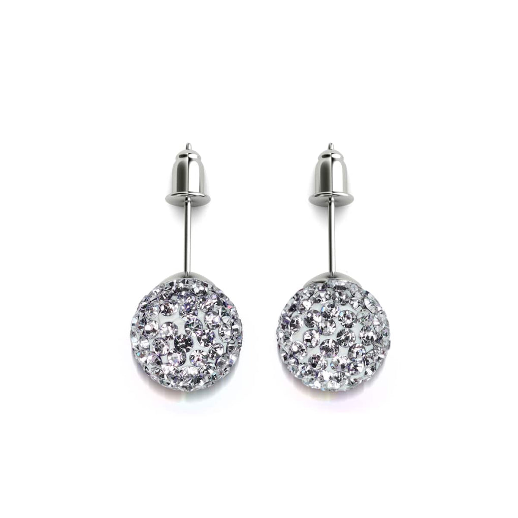 Winter White Crystal | .925 Sterling Silver | Kikiballa Earrings